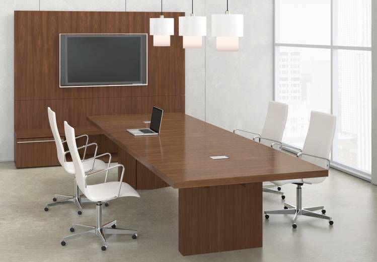Moderne möbel holz  Moderner Multimedia Möbel / für Konferenzraum / lackiertes Holz ...