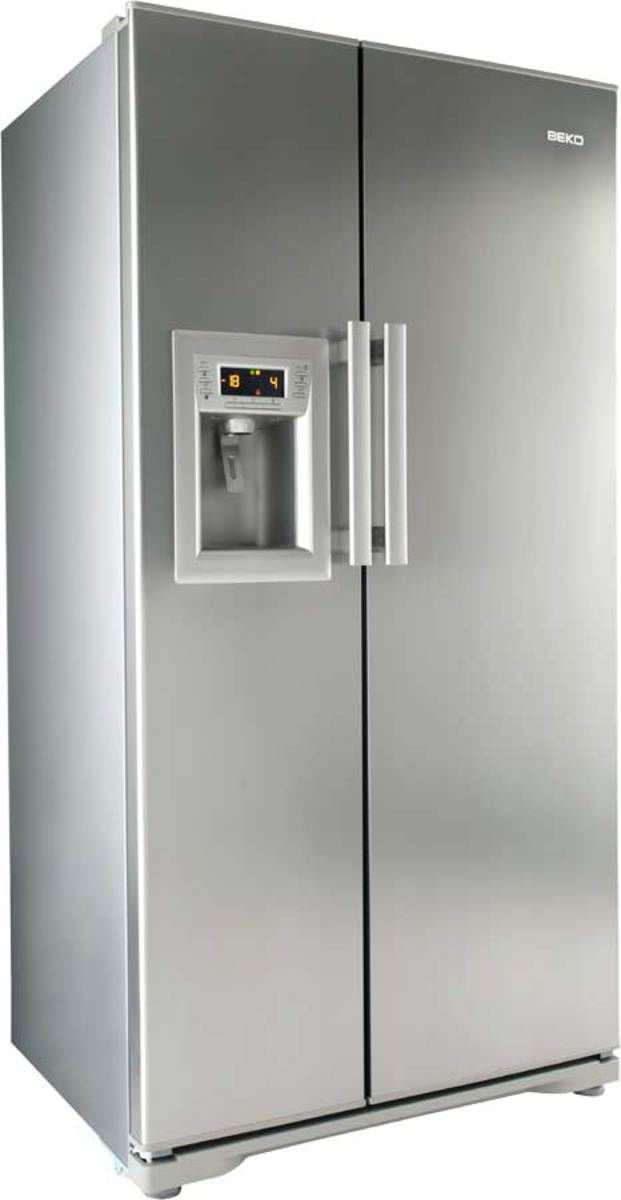 Amerikanisch-Kühlschrank / Edelstahl - GNEV321AP - Beko - Videos