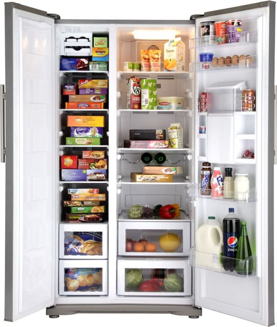 Amerikanisch-Kühlschrank / Edelstahl - GNEV220AP - Beko - Videos