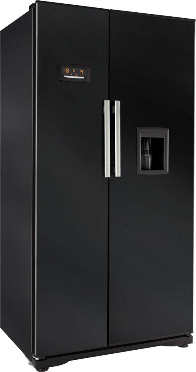 Amerikanisch-Kühlschrank / schwarz / Einbau - GNEV221AP - Beko ...