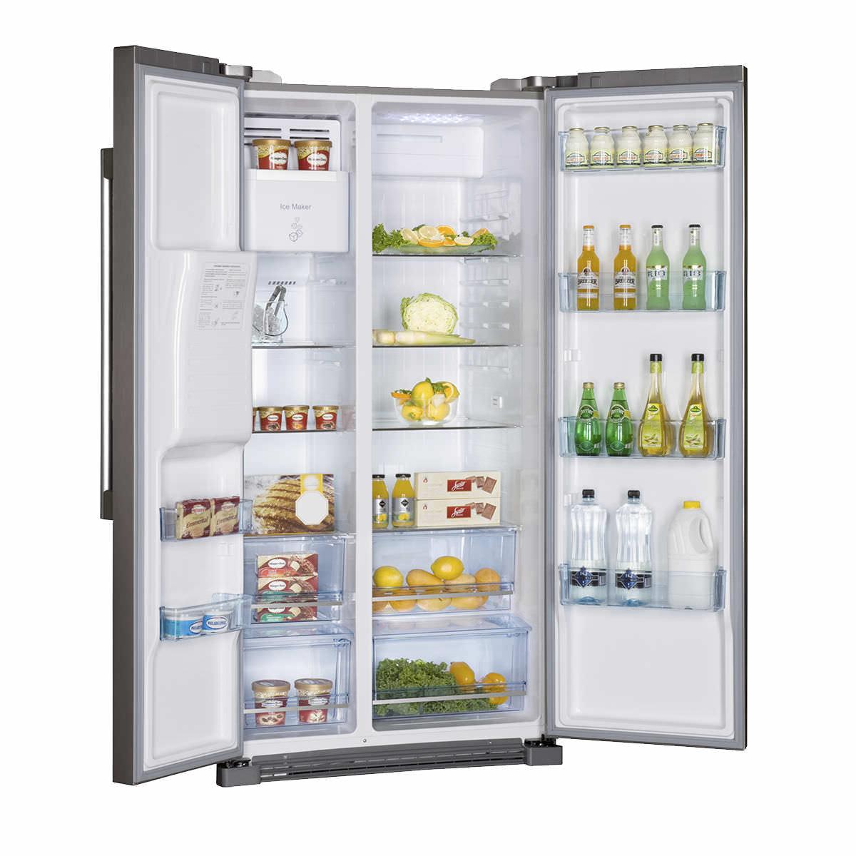 Amerikanisch-Kühlschrank / schwarz - HRF-628IF6 - Haier