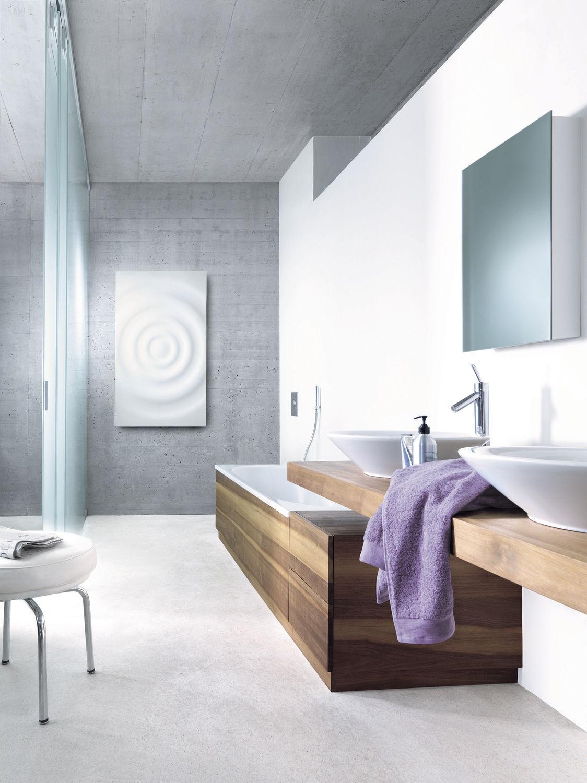 Heißwasser Heizkörper / Elektrisch / Aus Corian® / Originelles Design    SPLASH