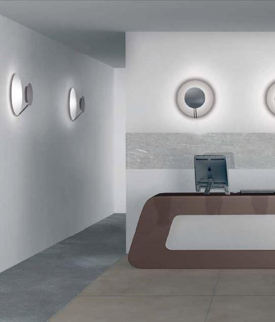 Moderne Wandleuchte / Aluminium / fluoreszierend / rund - VEGA ...