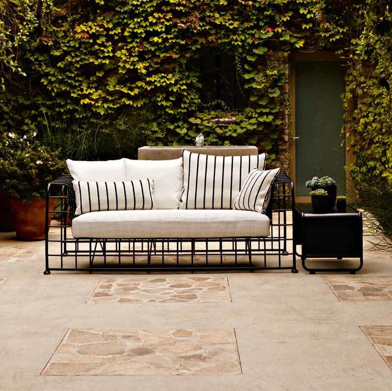 Modernes Sofa / Für Den Garten / Metall / Stoff   ARCHITECT