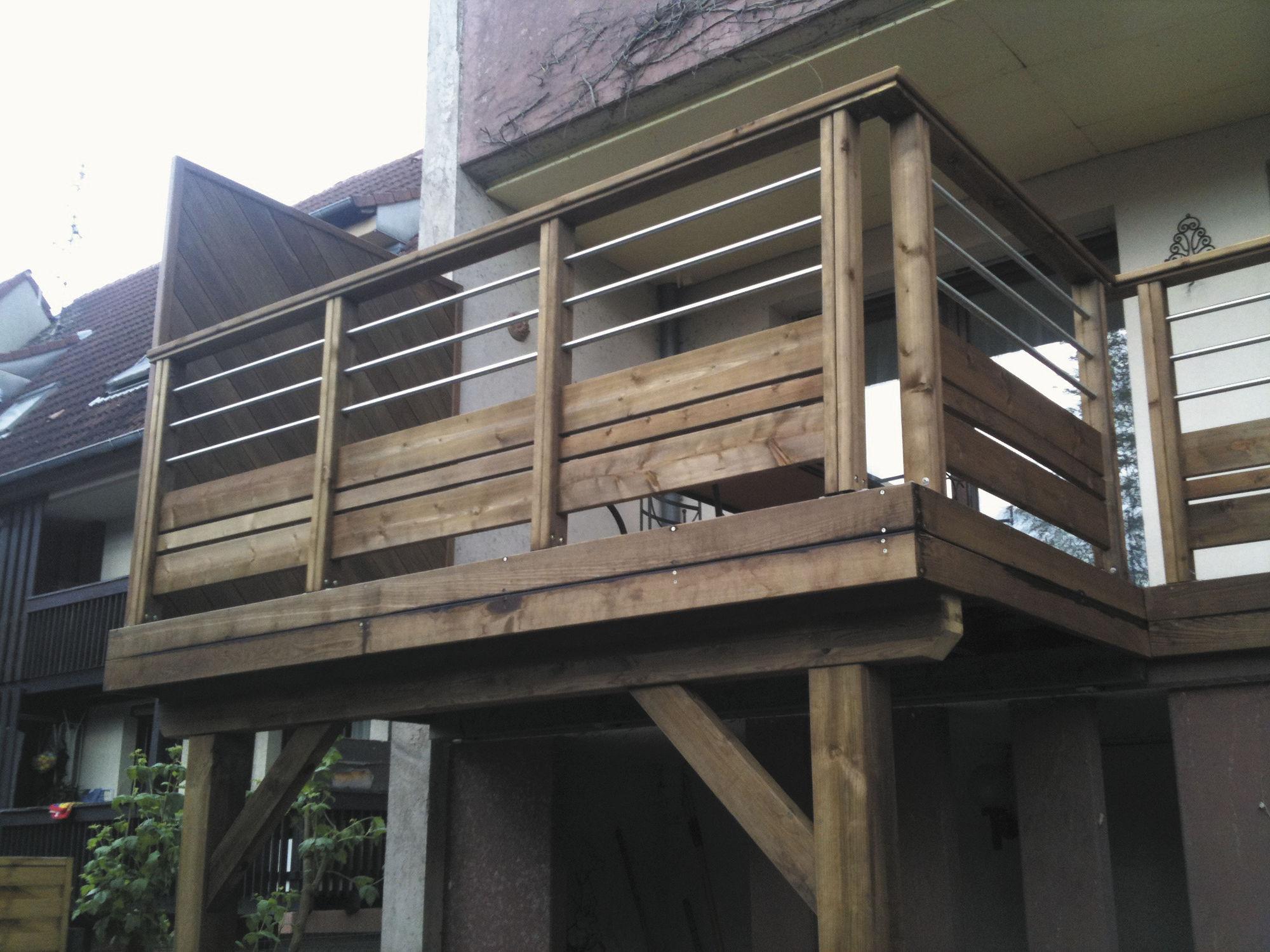 Großartig Holzgeländer / mit Stangen / für Außenbereich / für Plattform  TC21