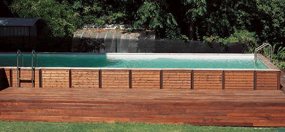 Swimmingpool holz  Teileingebautes Schwimmbecken / Holz / Außen - DOLCEVITA - LAGHETTO