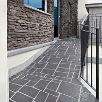 Bedruckter Beton Boden / zur gewerblichen Nutzung / strukturiert / Pflastersteinoptik