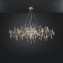 Klassischer Lüster / Glas / aus Bronze / Glühlampen