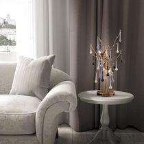 Tischlampe / klassisch / Glas / aus Bronze
