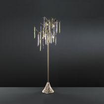 Lampe mit Fußgestell / klassisch / Glas / aus Bronze