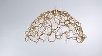 Hängelampe / klassisch / Glas / aus Bronze