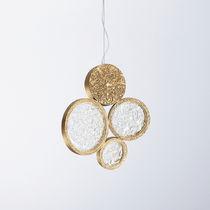 Hängelampe / modern / Glas / aus Bronze
