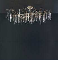 Klassische Deckenleuchte / Glas / aus Bronze / Halogen