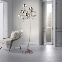 Lampe mit Fußgestell / originelles Design / Metall / Glas