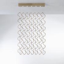 Hängelampe / modern / Metall / Glas