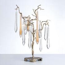 Tischlampe / modern / Metall / Glas