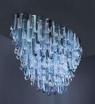 Lüster / originelles Design / Glas / LED / handgefertigt