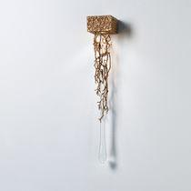 Moderne Wandleuchte / aus Bronze / Glas / LED