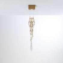Hängelampe / modern / aus Bronze / Glas