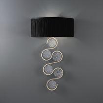 Moderne Wandleuchte / aus Bronze / Glas / Halogen