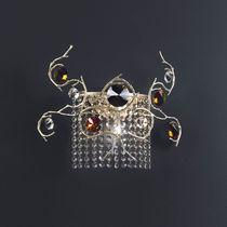 Stil-Wandleuchte / aus Bronze / aus Kristall / Halogen