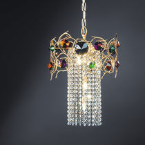 Hängelampe / Stil / aus Bronze / aus Kristall