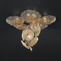 Moderne Deckenleuchte / aus Muranoglas / aus Bronze / LED