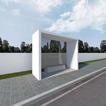 Beton-Bushäuschen / Hartglas