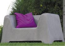 Moderner Sessel / Beton / öffentliche Bereiche / Garten
