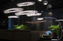 Lampe mit Fußgestell / modern / aus Kristall / für Innenbereich