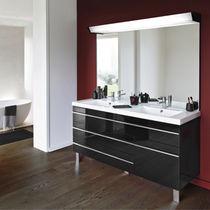 Hängend-Waschtischunterschrank / Holz / modern / mit Spiegel ... | {Waschtischunterschrank hängend 65}