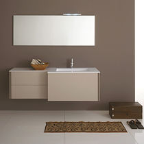 Hängend-Waschtischunterschrank / Holz / modern / lackiert - MAX ... | {Waschtischunterschrank holz hängend 44}
