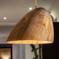 Hängelampe / modern / Holz / für Innenbereich