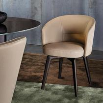 Moderner Esszimmerstuhl / drehbar / ergonomisch / aus Buche