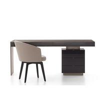 Schreibtisch aus Eiche / Metall / modern / Gewerbe