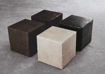Moderner Sitzpuff / Leder / von Rodolfo Dordoni