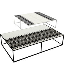 Couchtisch / originelles Design / Aluminium / Polyethylen / rechteckig