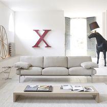 Modernes Sofa / Leder / Stoff / von Paolo Nava