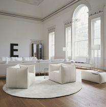 Moderner Sessel / Stoff / Leder / von Mario Bellini