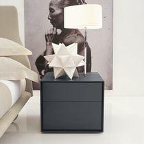 Moderner Nachttisch / aus MDF / rechteckig / mit Schublade