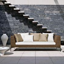 Modulierbares Sofa / modern / für den Garten / Synthetikfaser