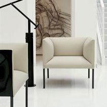 Moderner Sessel / Stoff / Leder / Bridge