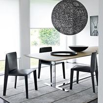 Moderner Stuhl / Polster / Stoff / Leder