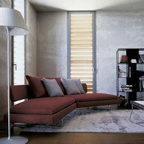 Halbrundes Sofa / modern / Leder / Stoff