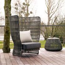 Moderner Sessel / Synthetikfaser / Stoff / mit hoher Rückenlehne