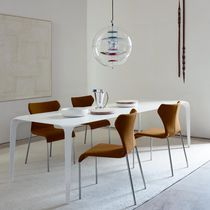 Moderner Stuhl / Polster / Stoff / Stahl