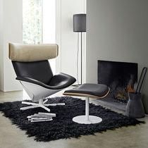Sessel / Skandinavisches Design / aus Eiche / Leder / aus Merino