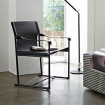 Moderner Stuhl / Klapp / mit Armlehnen / Kufen
