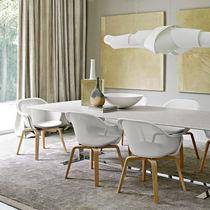 Moderner Stuhl / Polster / mit Armlehnen / aus Eiche