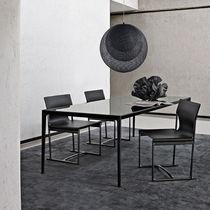 Moderner Tisch / Glas / aus Marmor / aus Eiche